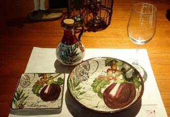 Piring  mangkuk gelas