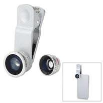 Universal Clip Lens Fish Eye 3in1 - Putih ELC141
