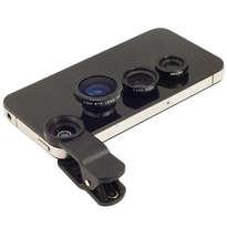 Universal Clip Lens Fish Eye 3in1 - Hitam