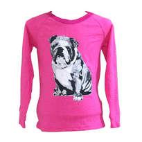 Kaos Bulldog Pink Lengan Panjang