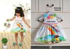 Gaun Pelangi Anak