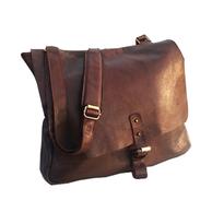 Tas Messenger Genuine Leather DARK BROWN