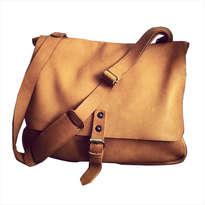 Tas Messenger Genuine Leather ORANGE