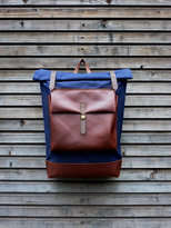 Tas Ransel The Architect - Canvas NAVY DARK BROWN