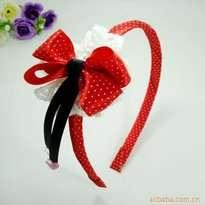 Red Polkadot Ribbon Kid Hair Accessories