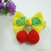 Yellow Cherry Kid Hair Clip