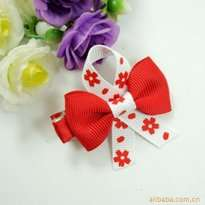 Red Ribbon Kid Hair Clip