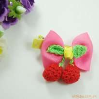 Pink Cherry Kid Hair Clip