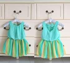 Gaun Anak Warna-Warni