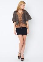 Blouse Batik Jojga Cap Tulis Motif Bali Lengan Kelelawar Model A