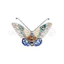 ceramic dewi srie - hiasan dinding kupu-kupu ukuran kecil - 14110518