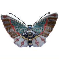 ceramic dewi srie - hiasan dinding kupu-kupu ukuran kecil - 14110527