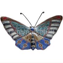 ceramic dewi srie - hiasan dinding kupu-kupu ukuran kecil - 14110528