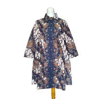 Dress Batik Tulis Bunga Coklat hitam