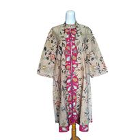 Dress Batik Tulis Rits Daun Pink