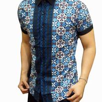 Kemeja Batik pria slim fit BT173 (M)