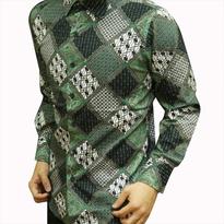Kemeja Batik pria slim fit D42 (M)