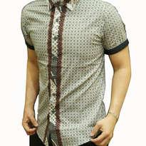 Kemeja Batik pria slim fit OB75 (M)