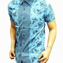 Kemeja Batik pria slim fit BT127 (XL)