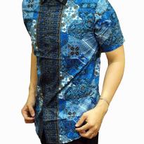 Kemeja Batik pria slim fit BT138 (L)