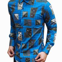 Kemeja Batik pria slim fit CB124 (XL)