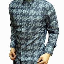 Kemeja Batik pria slim fit CB179 (L)