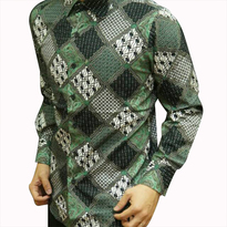 Kemeja Batik pria slim fit D44 (XL)