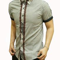 Kemeja Batik pria slim fit OB77 (XL)