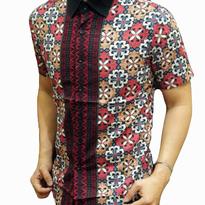 Kemeja Batik Pria slim fit BT176 (XL)