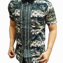 Kemeja Batik pria slim fit BT176 (L)