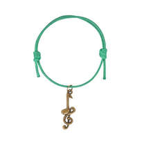 New Musical Cotton Bracelet - Clef Note Green