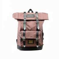 Tas Ransel Lazzardi Frandeur Brown Rolltop Backpack Muat Laptop 14