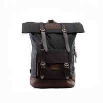 Tas Ransel Lazzardi Frandeur Black Rolltop Backpack Muat Laptop 14