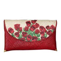 Clutch Merah Besar Bunga Mawar RED
