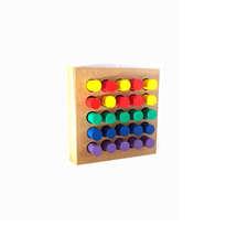 Mainan Edukasi Anak Papan Silinder Warna