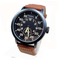 Jam Tangan Fossil Exp Leather Nut Brown