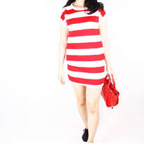 Dress Motif Merah Putih All size