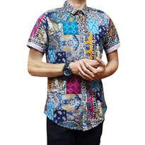 Short Batik Kepang Tosca
