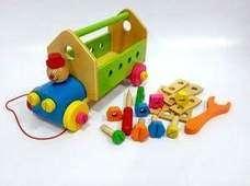 Mainan Edukatif Kayu - Bengkel mobil