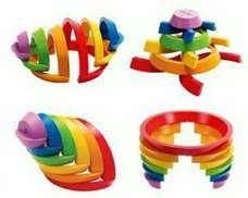Mainan Edukatif Kayu - Rainbow Block