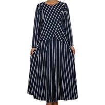 Busana Muslim Levina Dress Biru