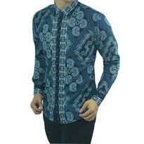 Kemeja Batik Slim Fit D143 Size XL