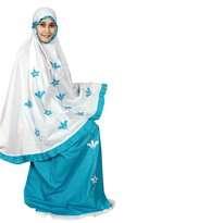 Mukena Fathiya Praire Blue Size L (Anak Umur 6-7th)