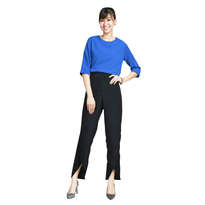 Qeseinsu Plain Casual Long Pants