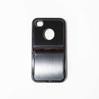 Holarocka Black Flip Metal Iphone 4 / 4s Case