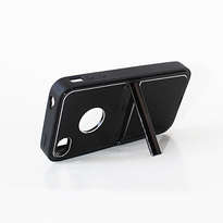 Holarocka Black Flip Metal Iphone 4 / 4s Case