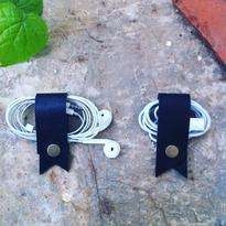 Data Cable Strap Color Dark Black (Earphone)