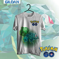 Pokemon Go - Bulbasaur Art Kaos Pokemon Original Gildan
