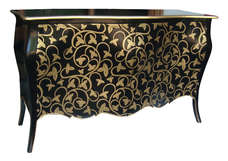 Commode Black Gold