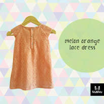 Melon Orange Lace Dress